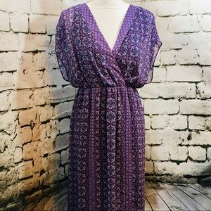 Lane Bryant Purple Maxi Dress